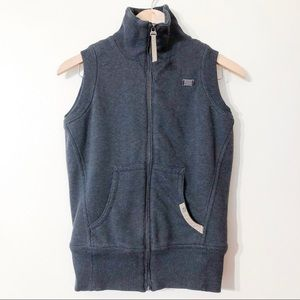 nike | gray vest with faux fur lining small